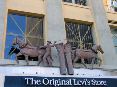 SAN DIEGO, CALIFORNIA, US - MARCH 11, 2007: Detail of the Levi Strauss The Original Levis store shop in San Diego California, US on March 11, 2007.