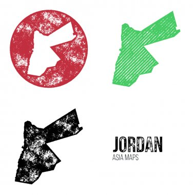 Jordan Grunge Retro Maps - Asia