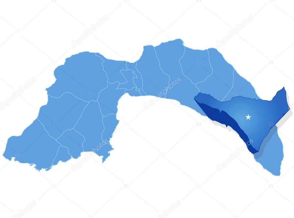 Karta över Antalya Alanya Dras Ut Stock Vektor Istanbul2009