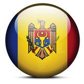 Fotografia Mappa con Dot Pattern sul tasto della bandierina della Repubblica Moldova