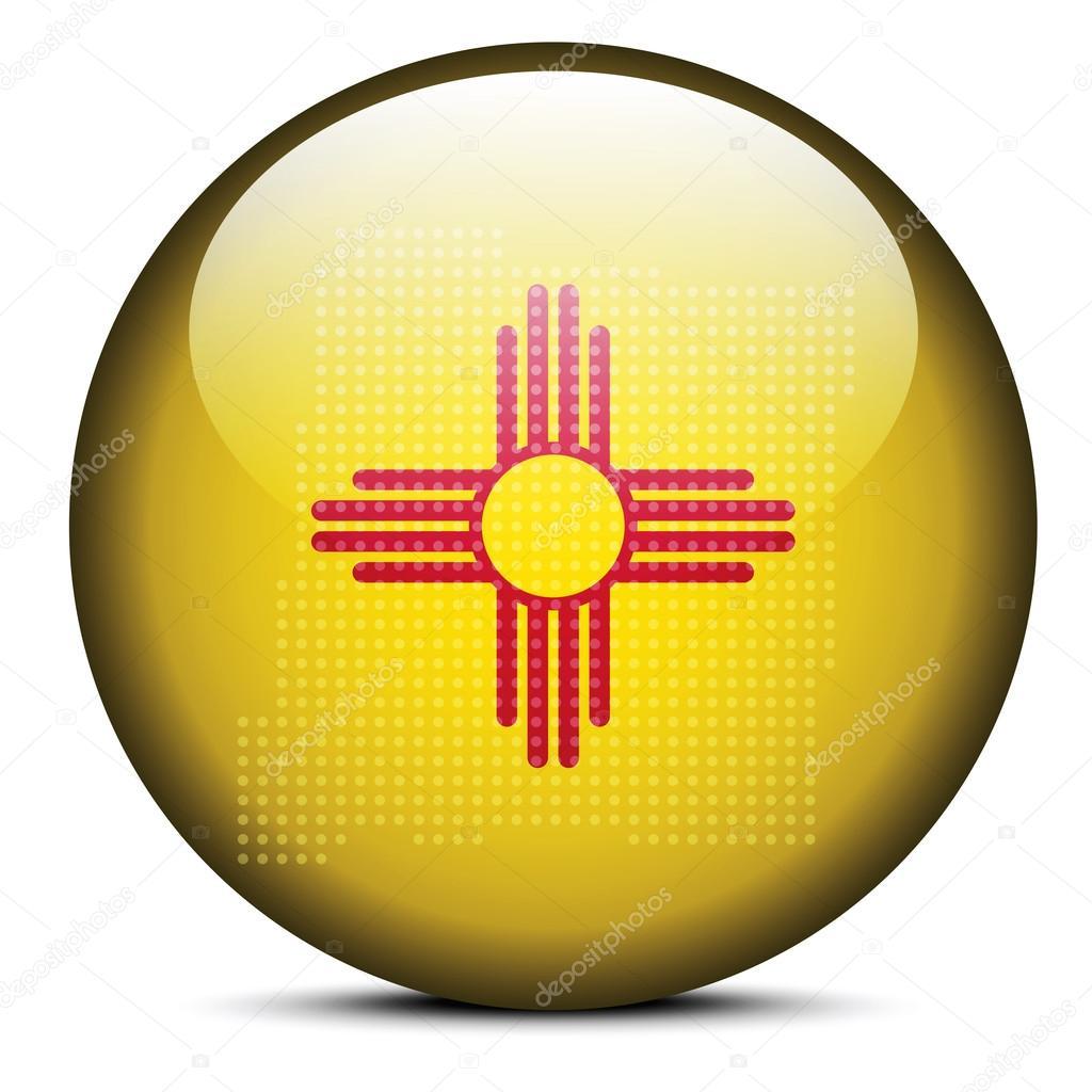 Mapa con patrón de puntos en el botón de la bandera de Estados ...