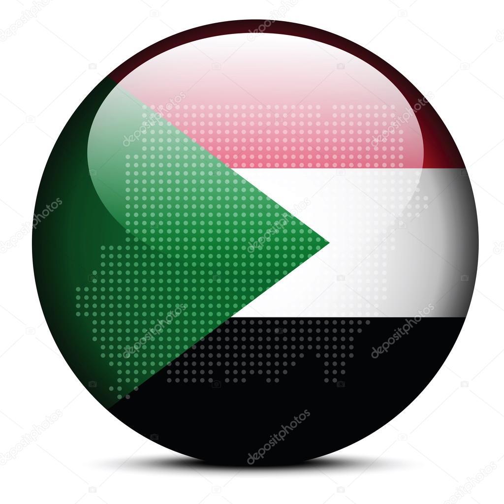 Mapa con el patrón de puntos en el botón de la bandera de la ...