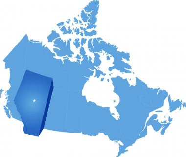 Map of Canada - Alberta province