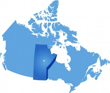 Map of Canada - Manitoba province