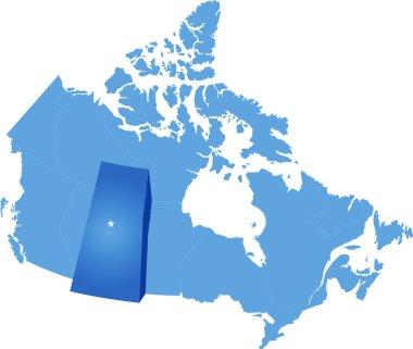Map of Canada - Saskatchewan province