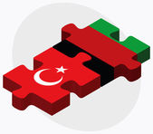 Fotografie Turkey and Afghanistan Flags in puzzle