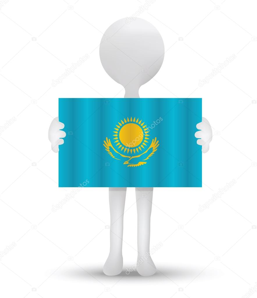 Flag of Republic of Kazakhstan