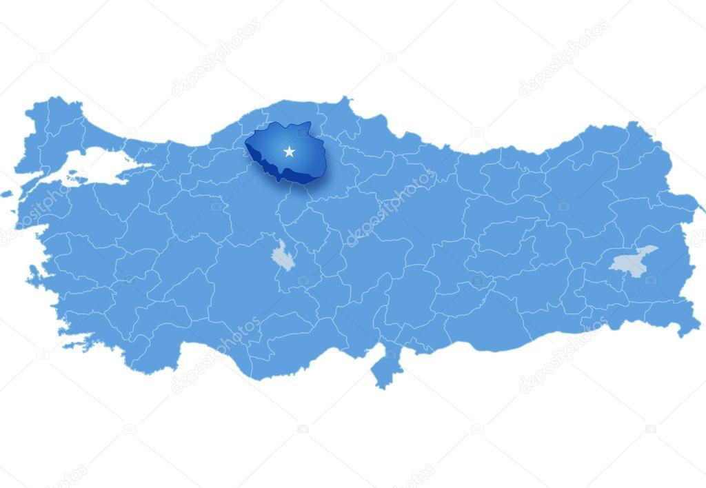 Map of Turkey Cankiri Stock Vector Istanbul2009 80830654