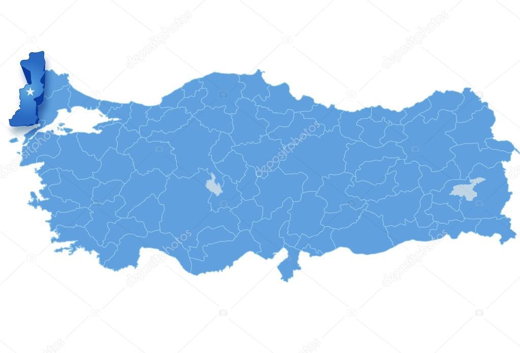 Map of Turkey Edirne Stock Vector Istanbul2009 80830724