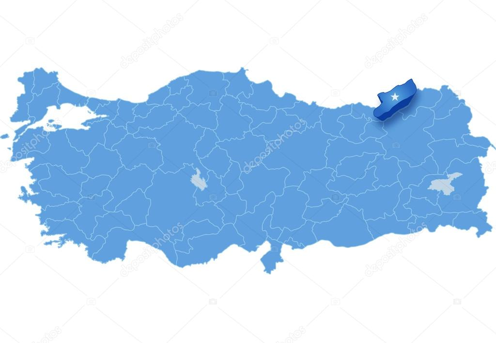 Map of Turkey Rize Stock Vector Istanbul2009 80831174