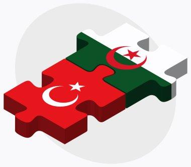 Turkey and Algeria Flags