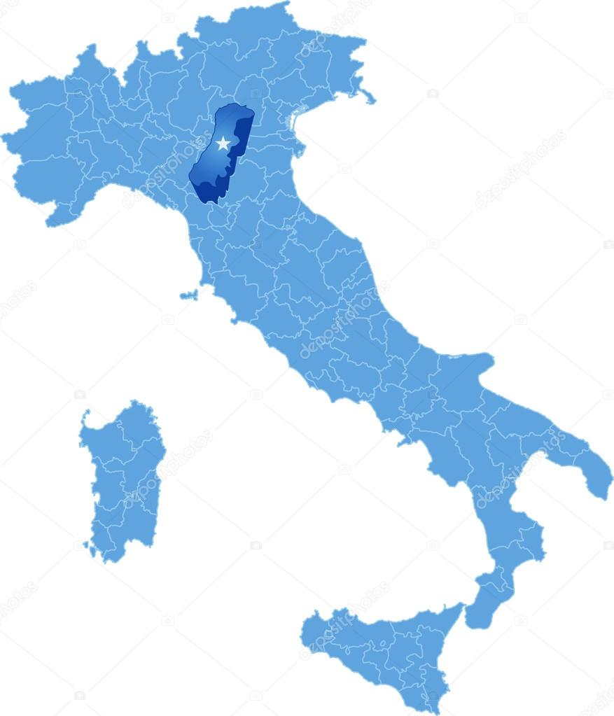 Map of Italy Modena Stock Vector Istanbul2009 83458580