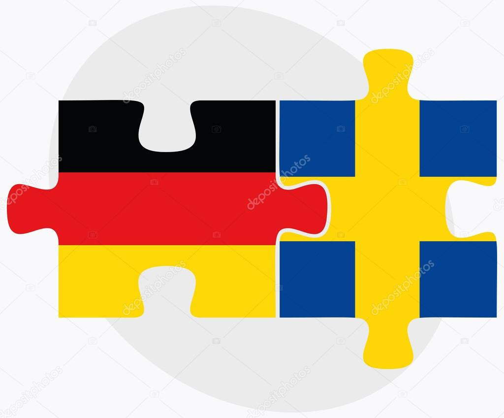 Germany and Sweden Flags