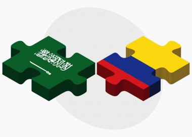 Saudi Arabia and Colombia Flags