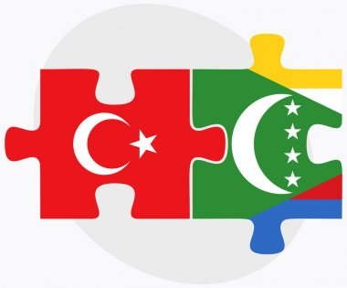 Turkey and Comoros Flags