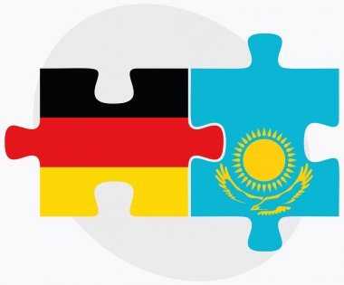 Germany and Kazakhstan Flags
