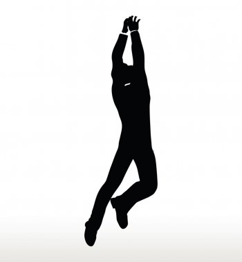 silhouette of businessman hanging
