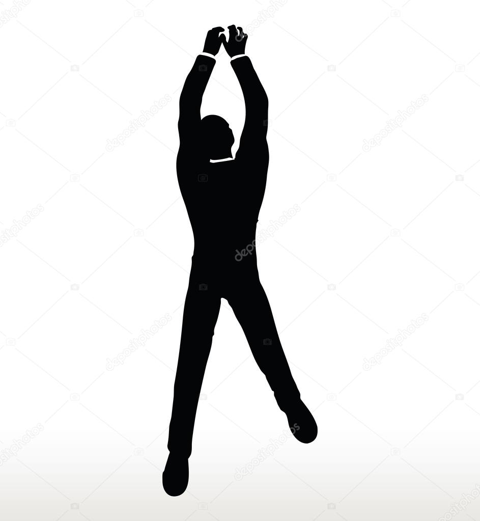 silhouette of businessman hanging stock vector istanbul2009