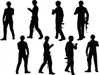 business peopl in silhouette