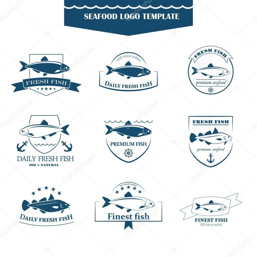 Plantilla de logos mariscos — Vector de stock © vilnarobotav3d ...