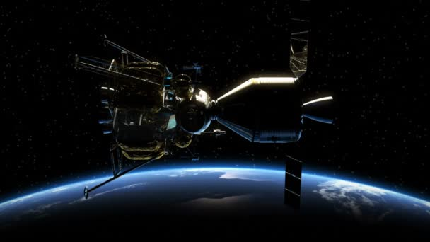 Undocking Of The Space Station In The Rays Of Sun Over Earth