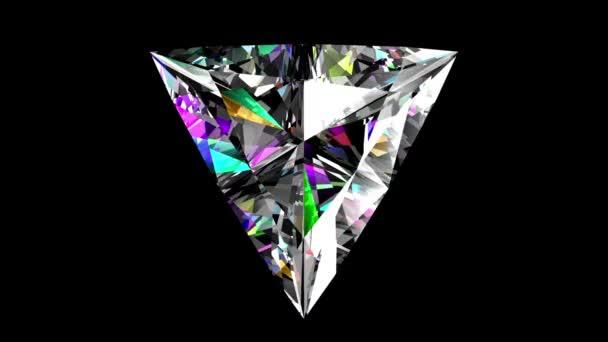 Duhové briliantový trojúhelník. Opakuje. Alfa matný.