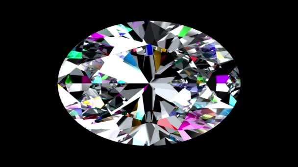 Duhový diamant ovál. Opakuje. Alfa matný.