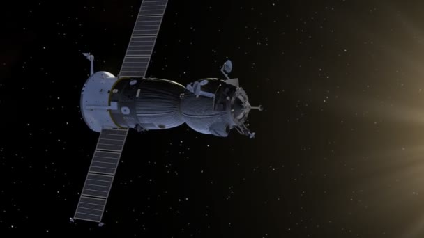 Docking Of Spacecraft And Space Station