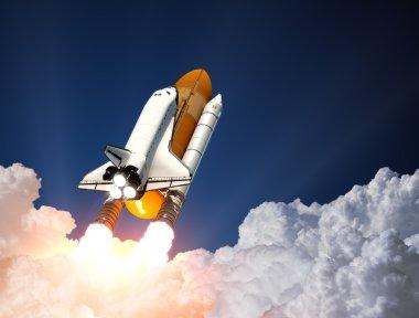 Space Shuttle Launch. 3D