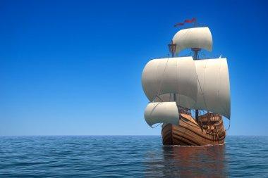 Caravel In The Ocean