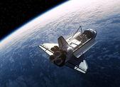 Vesmírný raketoplán obíhající kolem Země