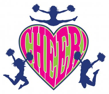 Cheer Heart With Cheerleaders