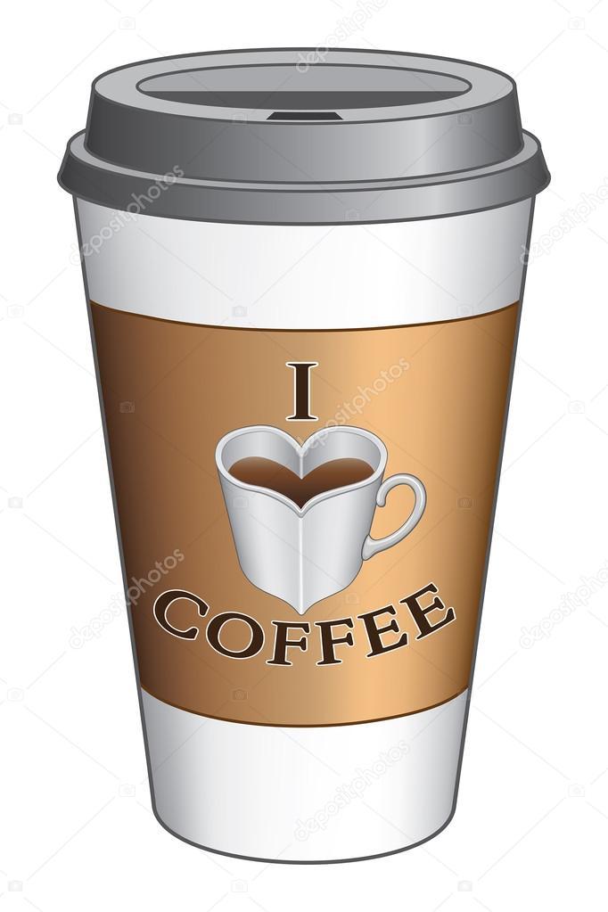 Me encanta el caf para llevar la copa archivo im genes for Cafe para llevar
