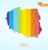 pencil stroke map of Poland