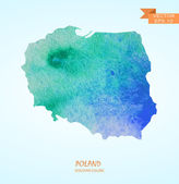 watercolor map of Poland