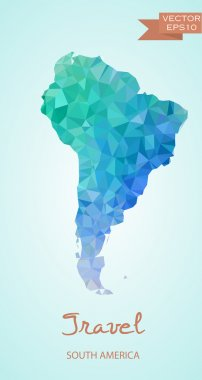 Polygonal map of Latin America