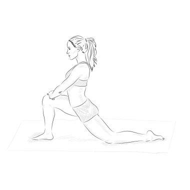 sketchy yoga woman