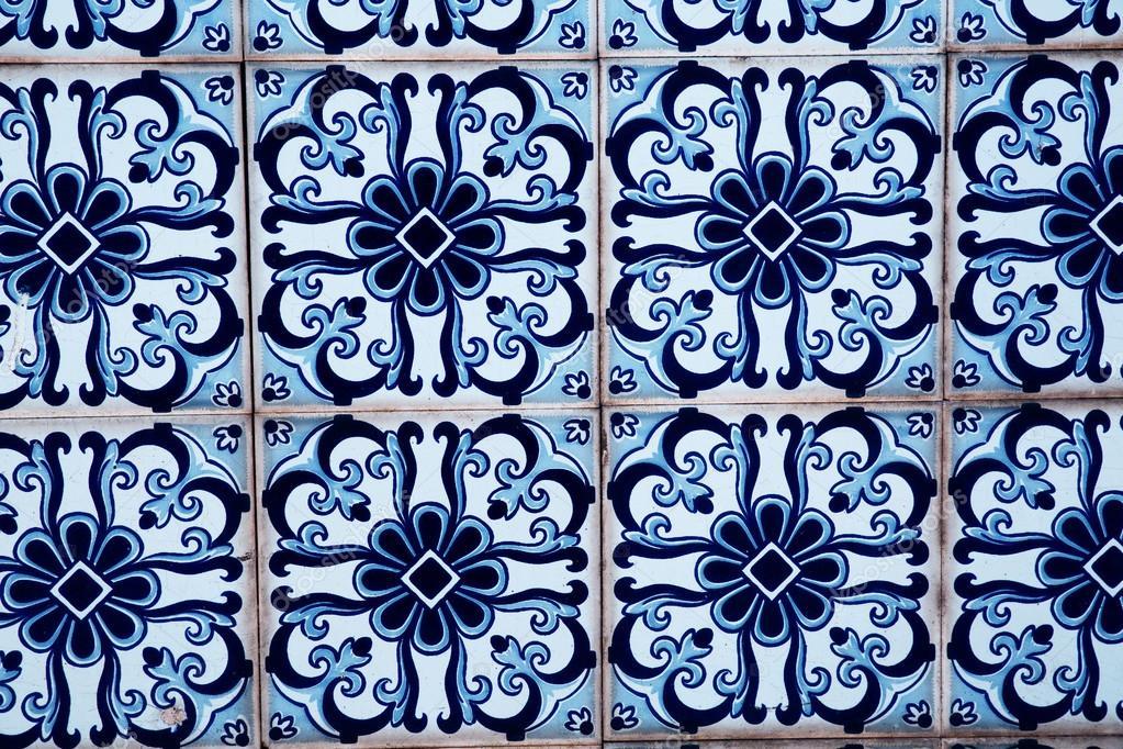 Interior or exterior vintage bathroom or kitchen square ceramic