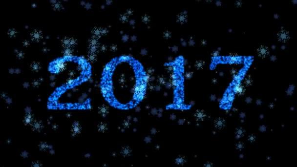 Felice anno nuovo, Natale, inverno 3d sfondo 2017
