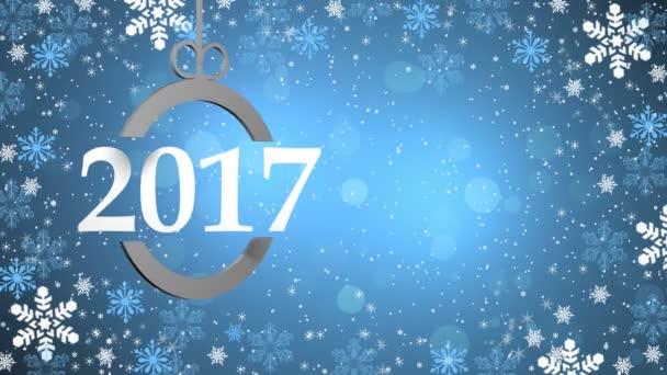 Šťastný nový rok, Vánoce, zimní 3d pozadí 2017