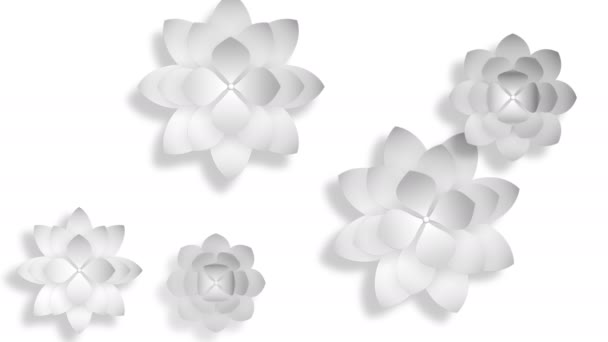 Abstract 3d background, white flowers
