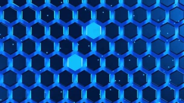 Animationstextur, Wabennetz aus Sechsecken und Teilchenbewegung
