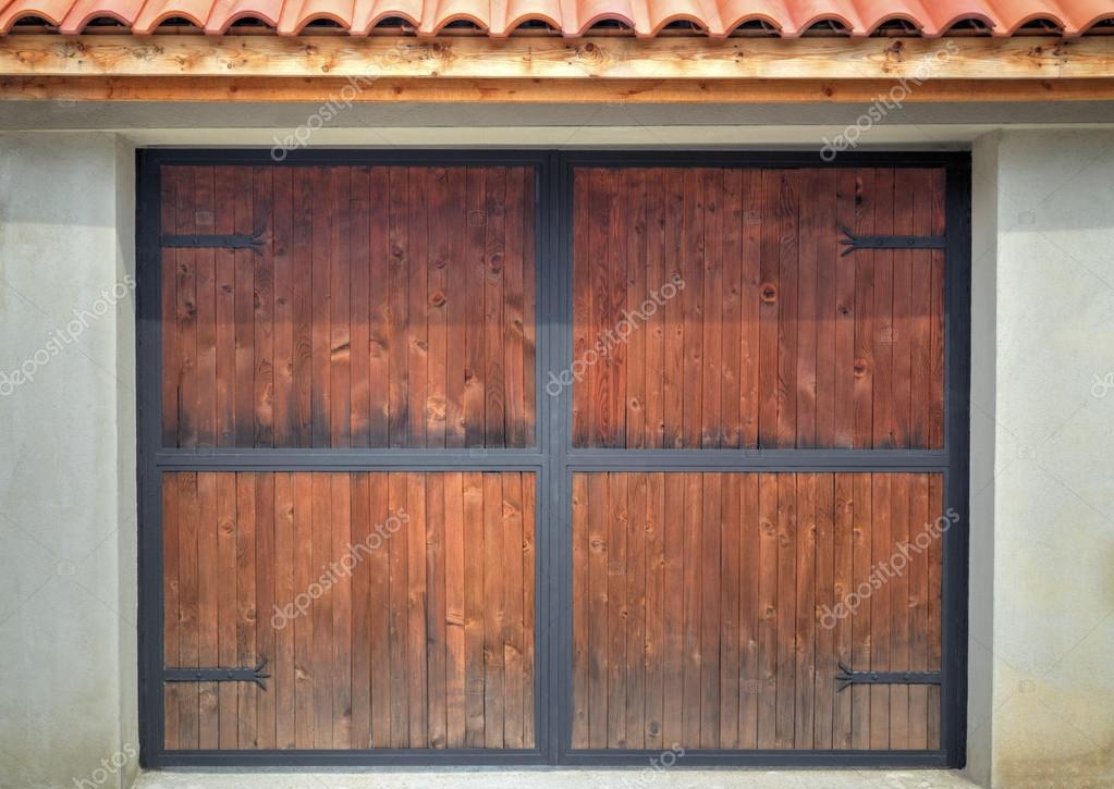 Stylish wooden door with metal ornaments u2014 Stock Photo & Stylish wooden door with metal ornaments u2014 Stock Photo ...