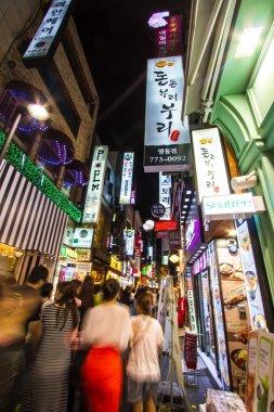 Myeondong by night