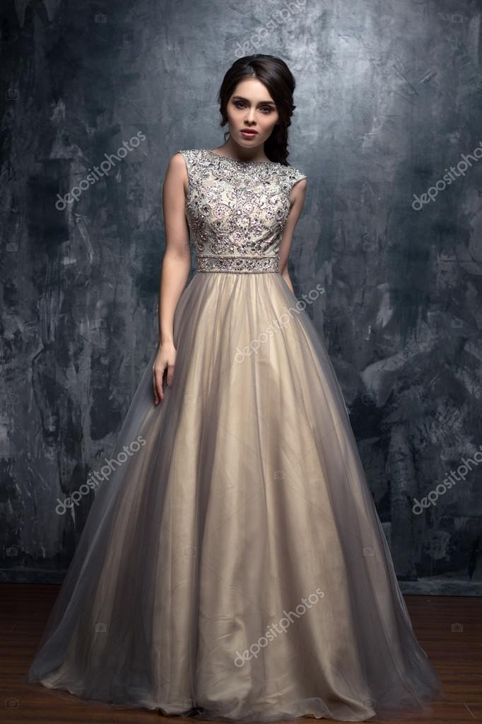 Moda Uroda Portret Przepiękny Młoda Kobieta Z Długie Kręcone