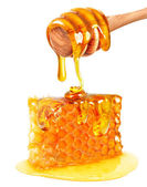 Fotografie honey dripping