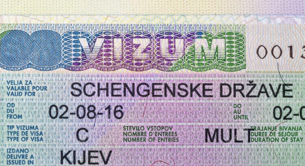 Uberlegen August 2016: Pass Mit Schengen Visum Stempel Nach Europa Ausgestellt In  Kiew Im Slowenischen Botschaft Closeup U2014 Foto Von Panama7