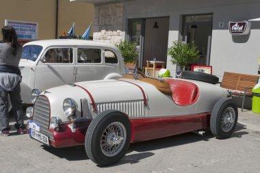 Exhibition of vintage cars in Novigrad, Croatia