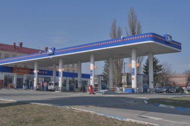 TNK petroleum station in Kiev, Ukraine