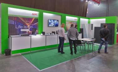 Schneider Electric company booth at CEE 2015, the largest electronics trade show in Ukraine